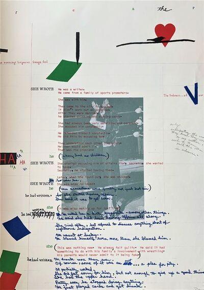 Terry Allen, 'Debris from text R', 1981