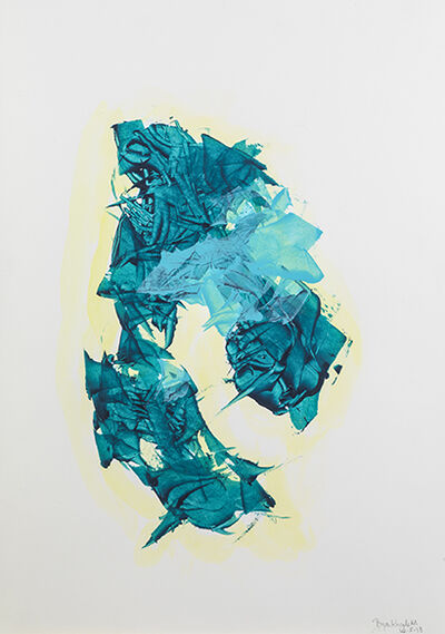 Bryan Kneale, 'Untitled (Teal, Blue & Yellow)', 2018