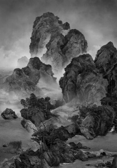 Yang Yongliang 杨泳梁, 'Sitting Alone by a Stream', 2019
