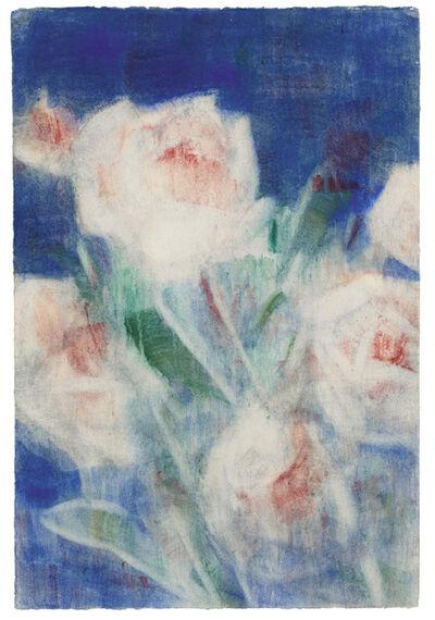 Christian Rohlfs, 'Päonien auf Blau', 1935