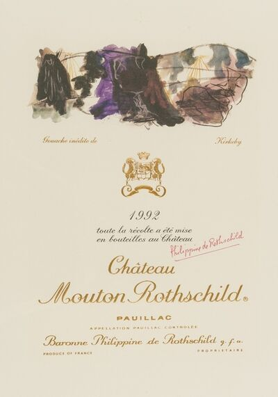 Per Kirkeby, 'Chateau Mouton Rothschild Pauillac wine label', 1992