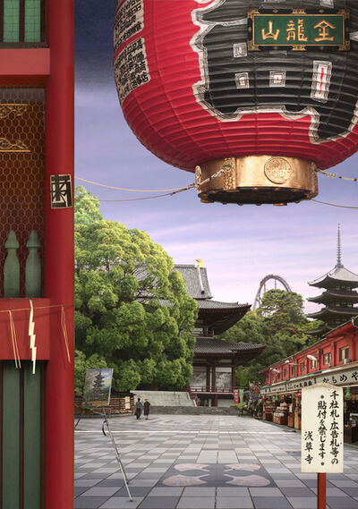 Emily Allchurch, 'Tokyo Story 8; Temple (after Hiroshige)', 2011