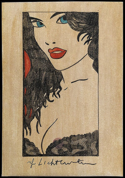 Roy Lichtenstein, 'Woman in Black Lace With Red Lips', 1980's
