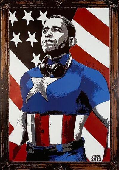 Mr. Brainwash, 'Obama Captain America', 2012