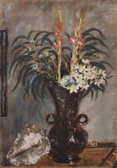 Filippo De Pisis, 'Vaso con gladioli', 1930