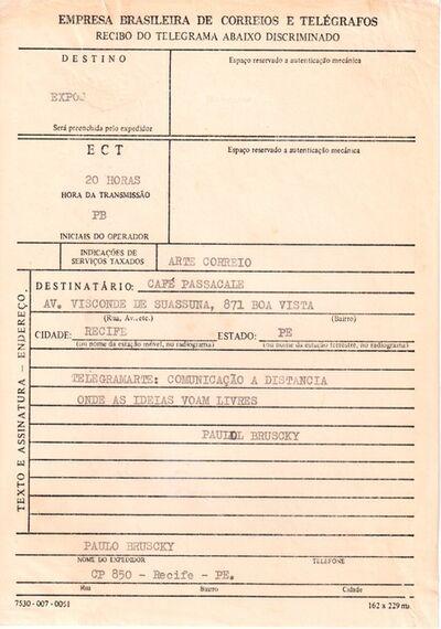 Paulo Bruscky, 'Telegramarte: Comunicação a distancia', undated