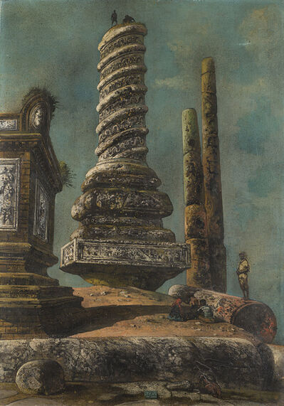 Eugene Berman, 'Il sarcofago e le colonne', 1958