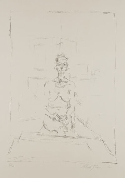 Alberto Giacometti, 'Nu assis (Seated Nude)', 1965