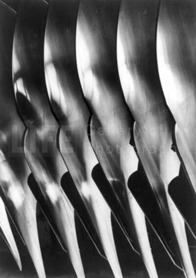 Margaret Bourke-White, 'Plow Blades, Oliver Chilled Plow Co.', 1930