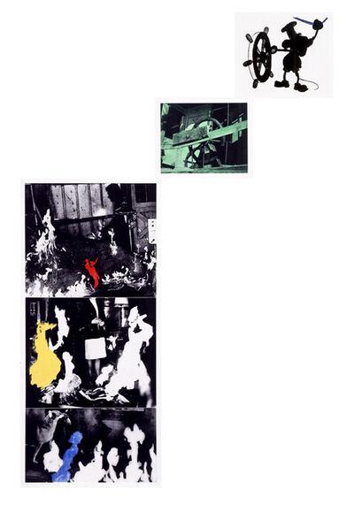 John Baldessari, 'Helmsman (with Various Fires)', 1989