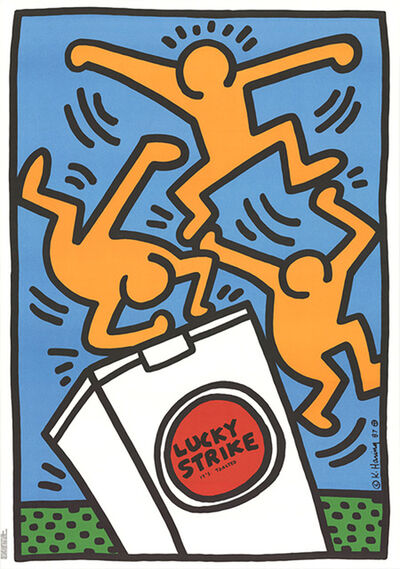 Keith Haring, 'Keith Haring Lucky Strike (Blue) ', 1987