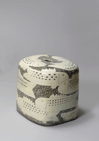 Huh Sangwook, 'Buncheong Stool with Fish Pattern', 2018