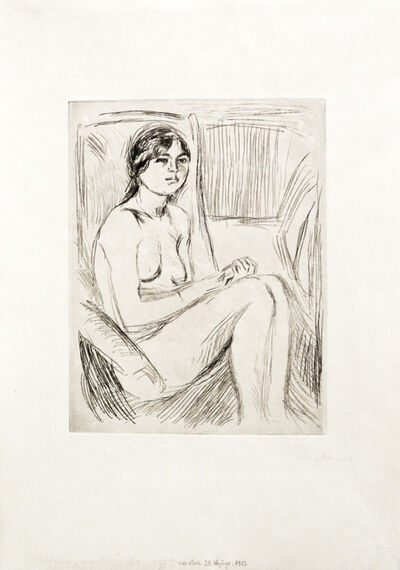 Edvard Munch, 'Celline naken (Celline Nude)', 1912 or 1914