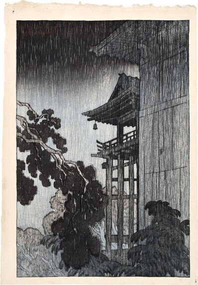 Itō Shinsui, 'Eight Views of Omi: Miidera', 1917