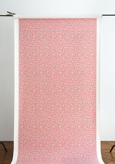Anni Albers, 'E Wallpaper in red (186 U)', 2019