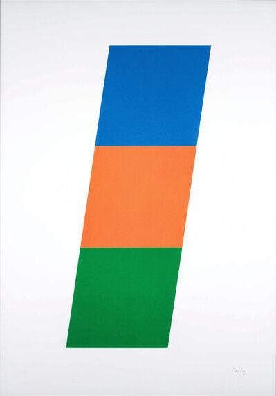 Ellsworth Kelly, 'Blue/Red-Orange/Green', 1970-1971