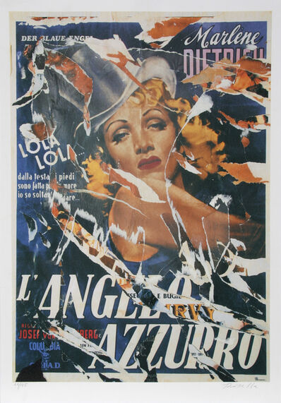 Mimmo Rotella, 'Made to Order Love (Marlene Dietrich) - The Blue Angel', 2004
