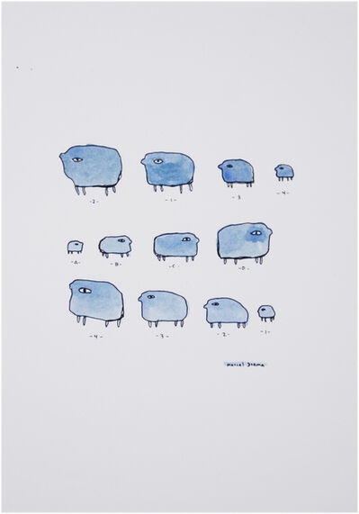 Marcel Dzama, 'Untitled (sheep)', ca. 1999