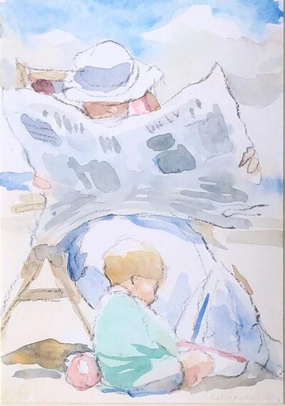 Charlie Mackesy, 'News On The Beach', ca. 1986