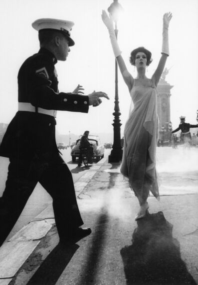 William Klein, 'Simone + Marines, Pont Alexander II, Paris (Vogue)', 1960
