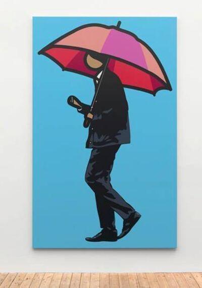 Julian Opie, 'Man smoking with umbrella', 2012