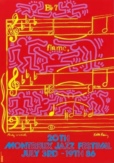 Keith Haring, 'Montreux Jazz Festival 1986 (Keith Haring & Andy Warhol)', 1986