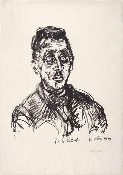 Oskar Kokoschka, 'Portrait of Victor Wallerstein', 1919