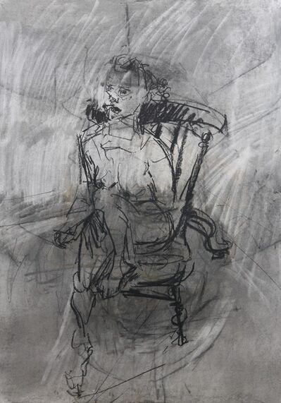 Richard Fitton, 'Kerrine Seated Nude - Charcoal', 2017