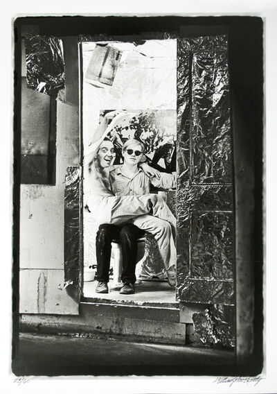 William John Kennedy, 'Andy with Taylor Mead sitting on his lap', 1964