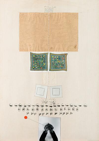 Alighiero Boetti, 'Due mani e una matita (da figura a veritas)', 1976