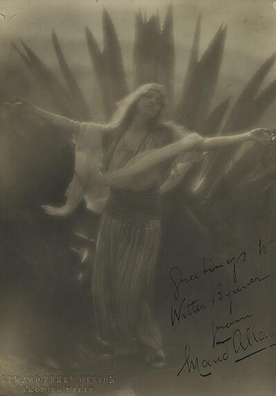Edward Weston, 'Maud Allen', 1918