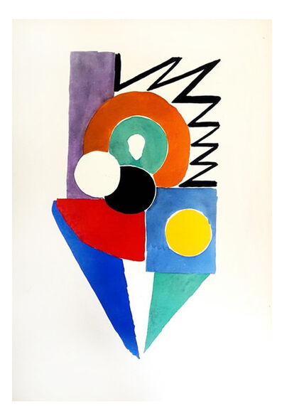 "Sonia Delaunay, 'Original Pochoir ""27 Living Paintings III"" by Sonia Delaunay', 1969"