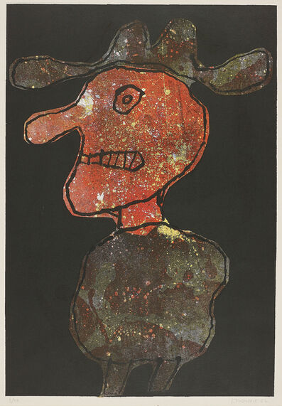 Jean Dubuffet, 'Personnage au Chapeau (Person in Hat)', 1962