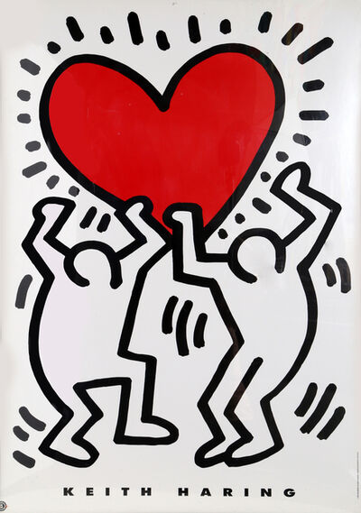 Keith Haring, 'Holding a Heart', 1993