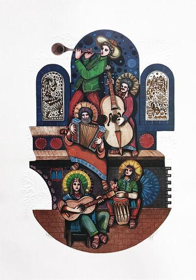 Amram Ebgi, 'FIVE MUSICIANS (JUDAICA ART)', 1900