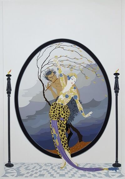 Erté (Romain de Tirtoff), 'Woman and Satyr', 1980