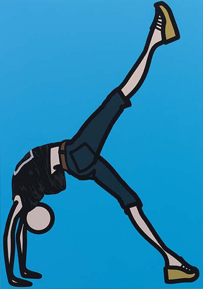 Julian Opie, 'Sarah, Bridge Leg Lift', 2008