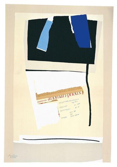 Robert Motherwell, 'America - La France Variations VI', 1984