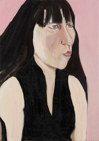 Chantal Joffe, 'Ishbel on Pink', 2018