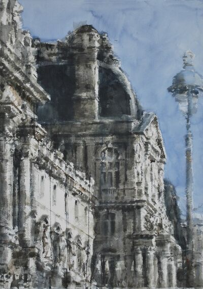 Chizuru Morii Kaplan, 'Rhythm of Light on Louvre IV, Paris', 2018