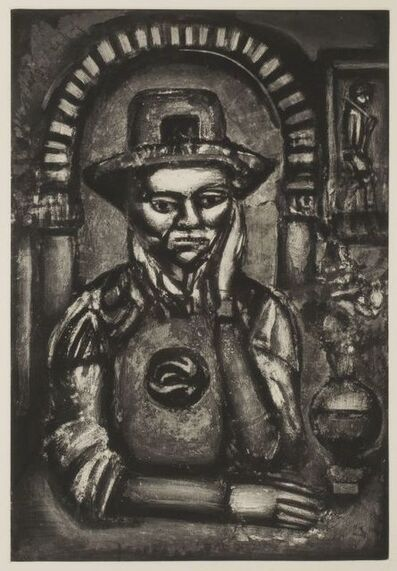 Georges Rouault, 'Chinois inventa, dit-on, la poudre a canon, nous en fit don (The Chinese invented gunpowder, they say, and made is a gift of it)', 1926