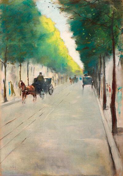 Lesser Ury, 'Eine Straße im Tiergarten, Berlin', ca. 1915