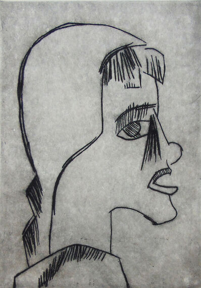 Karl Schmidt-Rottluff, ' Girl's Head I Mädchenkopf', 1920