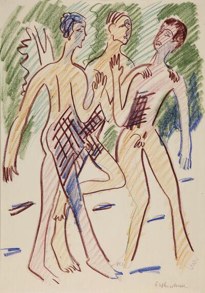 Ernst Ludwig Kirchner, 'Drei Buben in der Sonne (Three Young Men in the Sun)', 1932