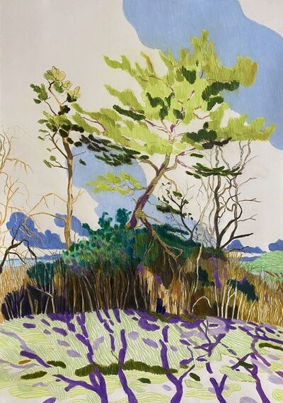 Per Adolfsen, 'Pines near the Coast on sunny day in February', 2021