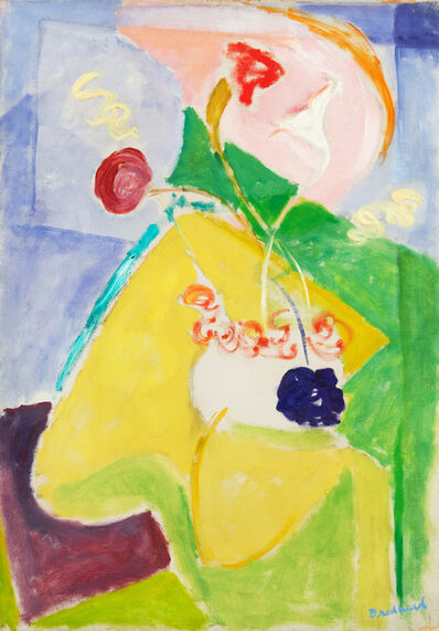 Quita Brodhead, 'Abstract Form with Yellow and Pink', circa 1950s