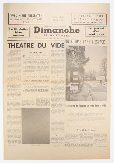 Yves Klein, 'Dimanche: Le Journal d'un Seul Jour', 1960