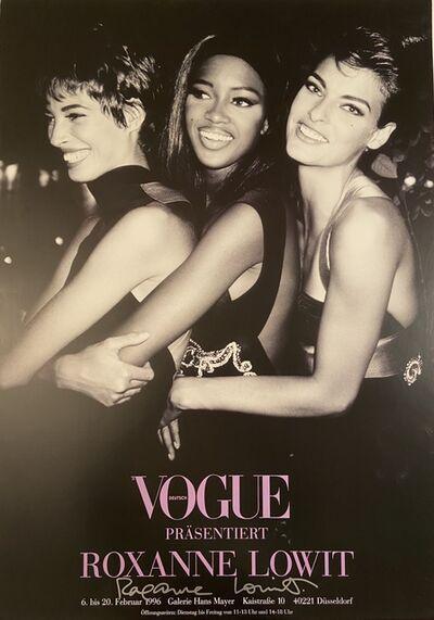 Roxanne Lowit, 'Deutsch Vogue Prasentiert Roxanne  Lowit, Galerie Hans Mayer Gallery Autograpehd Poster', 1996