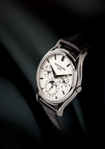 Patek Philippe, 'Perpetual Calender, Reference 5140G, A 18K White Gold Automatic Wrist Watch with Moon Phases'