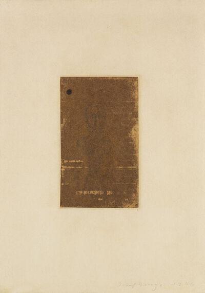 Joseph Beuys, 'Lieferschein', 1946